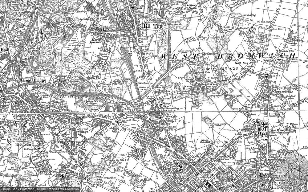 Old Maps of West Bromwich Francis Frith