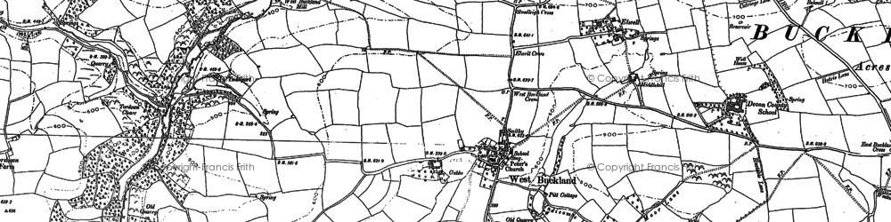 Old map of Accott in 1886