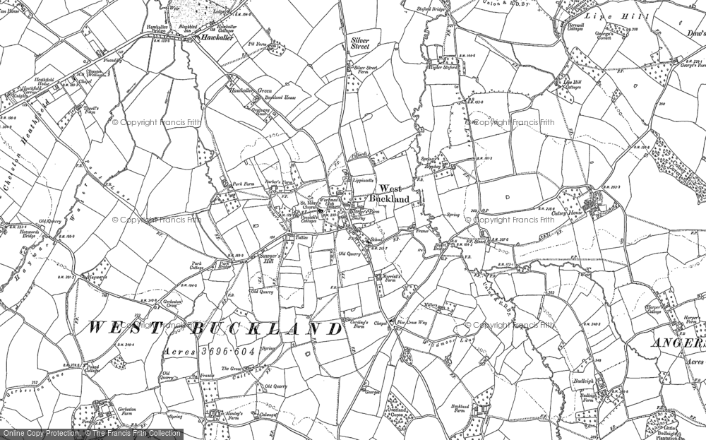 Old Map of Historic Map covering Lipe Hill in 1903
