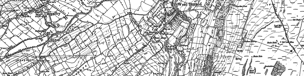 Old map of West Burton in 1891