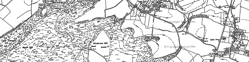 Old map of Westburton Hill in 1896