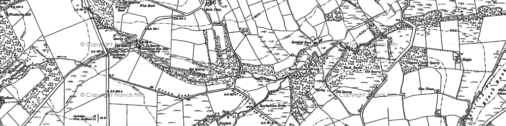 Old map of Wheatley Grange in 1895