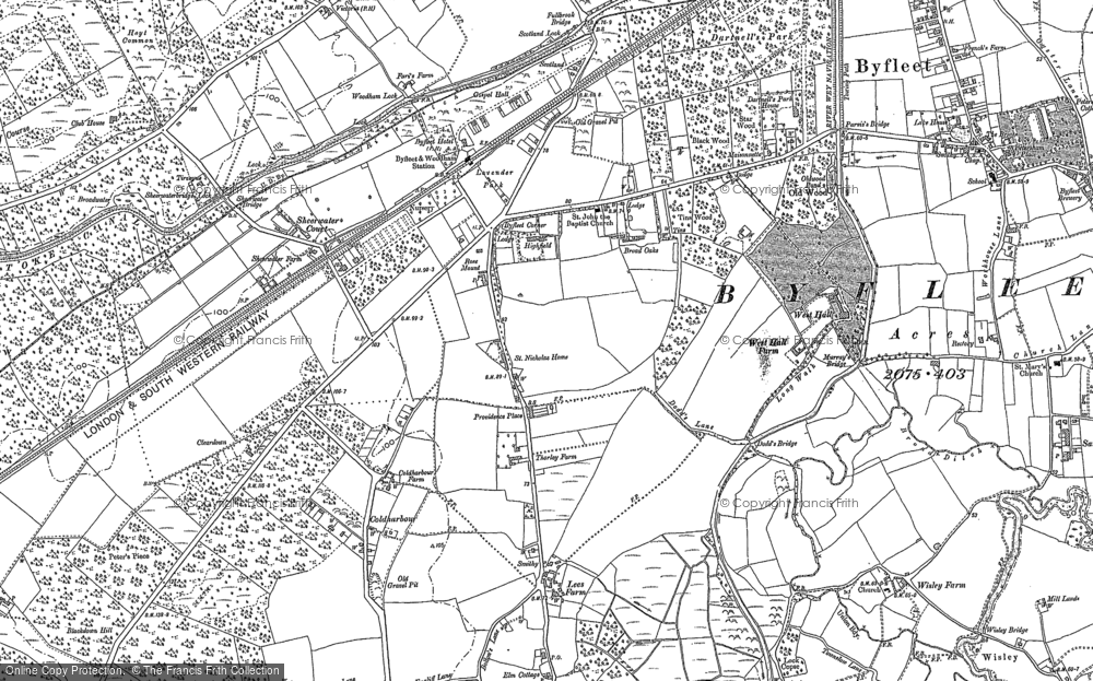 Old Map of West Byfleet, 1895 in 1895