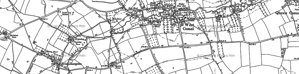 Old map of Yarcombe Wood in 1885