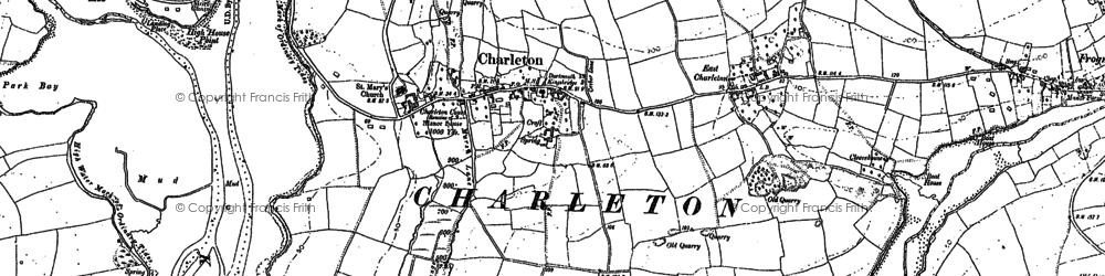 Old map of West Charleton in 1905