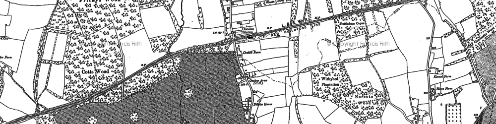 Old map of West Clandon in 1895