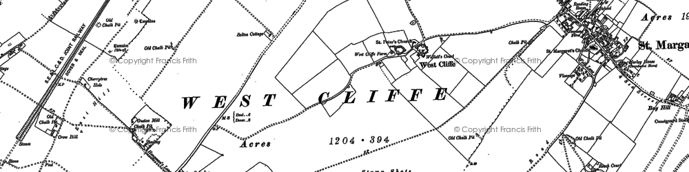 Old map of St Margaret's Bay in 1906