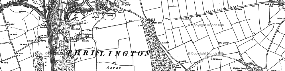 Old map of West Cornforth in 1896