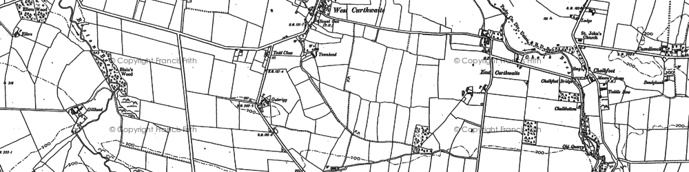Old map of West Curthwaite in 1899