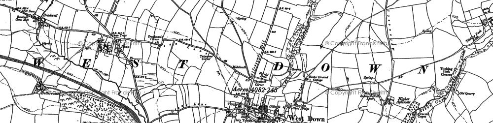 Old map of Yellow Rayes in 1886