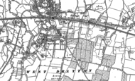 Old Map of West Drayton, 1912 - 1913