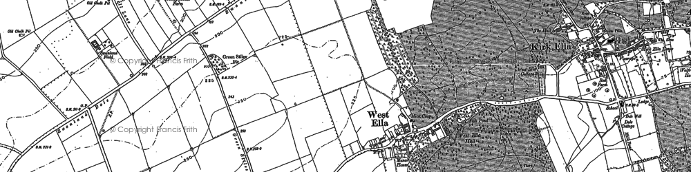 Old map of Westwinds in 1888