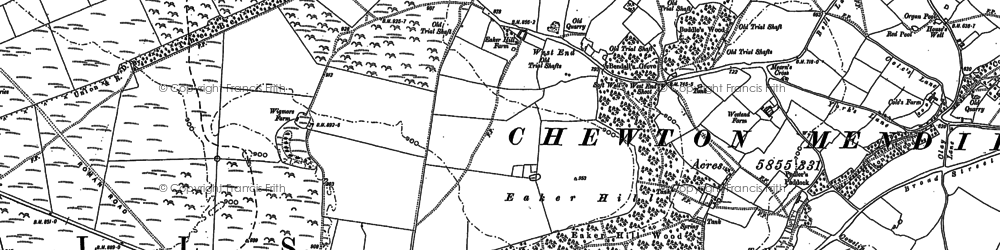 Old map of Wurt Pit in 1884