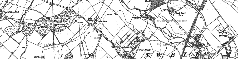 Old map of West Ewell in 1894