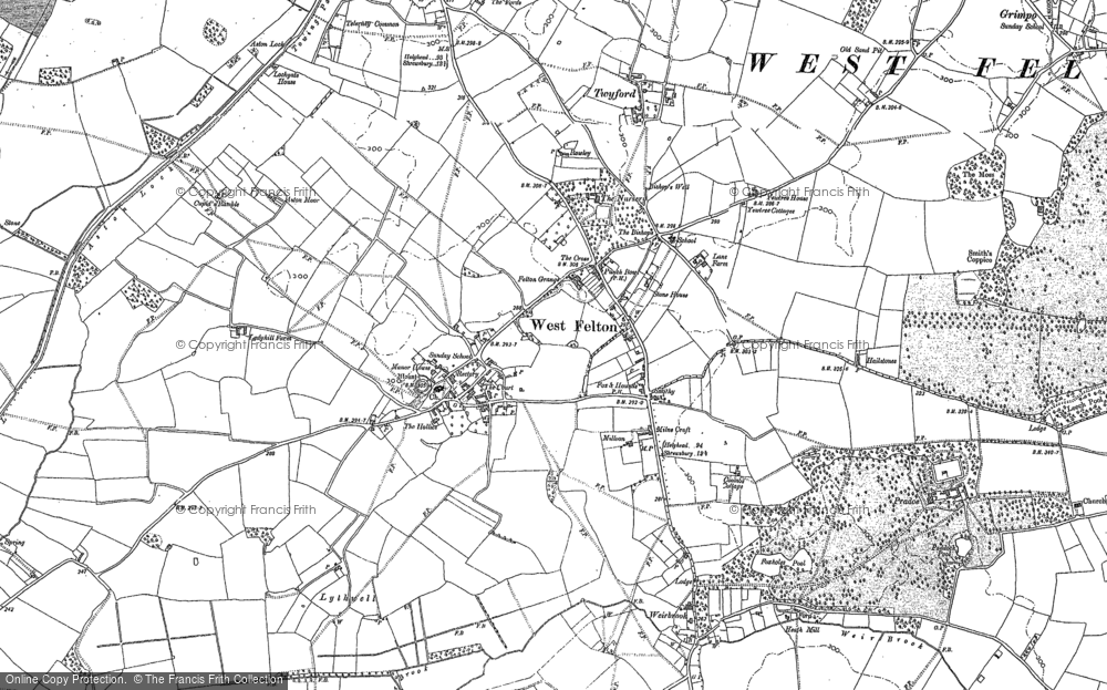 Old Map of Historic Map covering Aston Locks in 1875