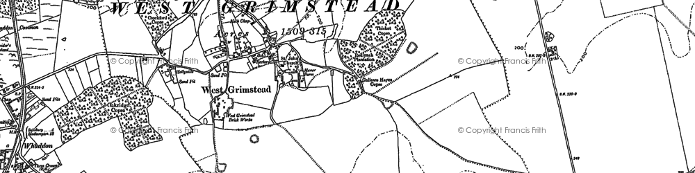 Old map of Whaddon Common in 1908
