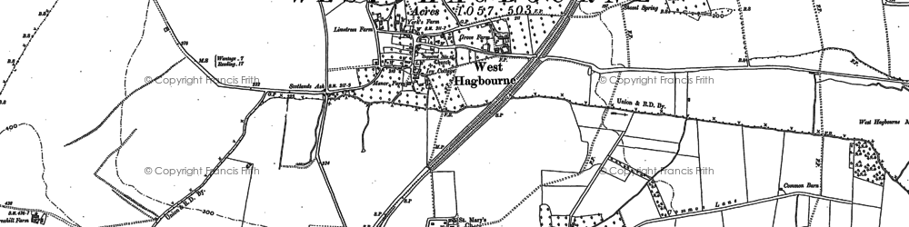 Old map of West Hagbourne in 1898