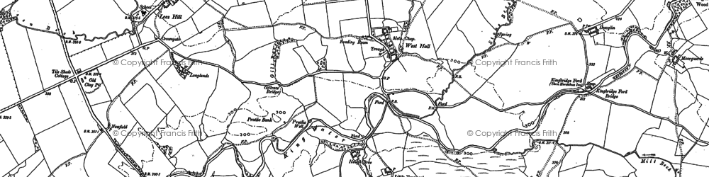Old map of Ash Moss in 1899