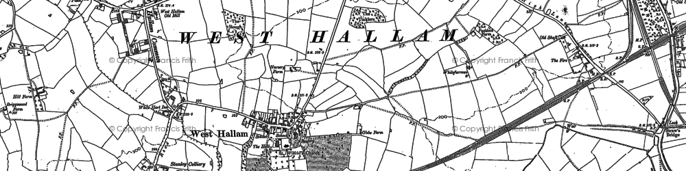 Old map of Whitefurrows in 1879