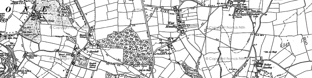 Old map of West Handley in 1876