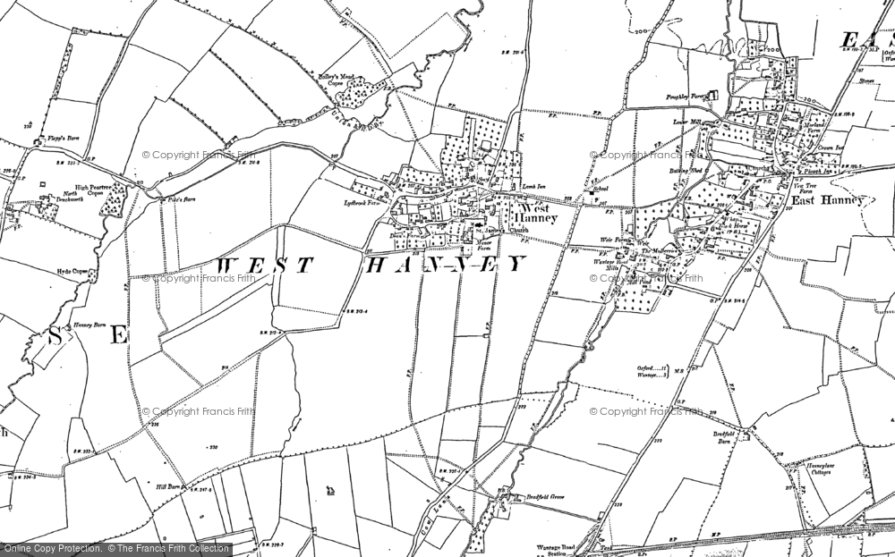 Old Map of West Hanney, 1898 in 1898