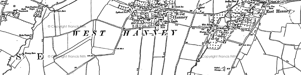 Old map of West Hanney in 1898