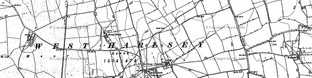 Old map of Wray Ho in 1892