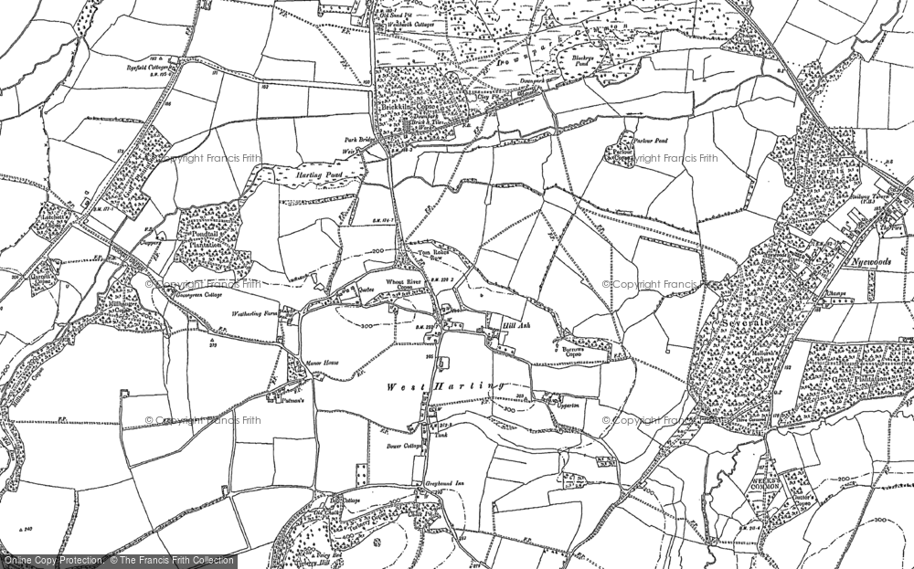 Old Map of West Harting, 1910 in 1910