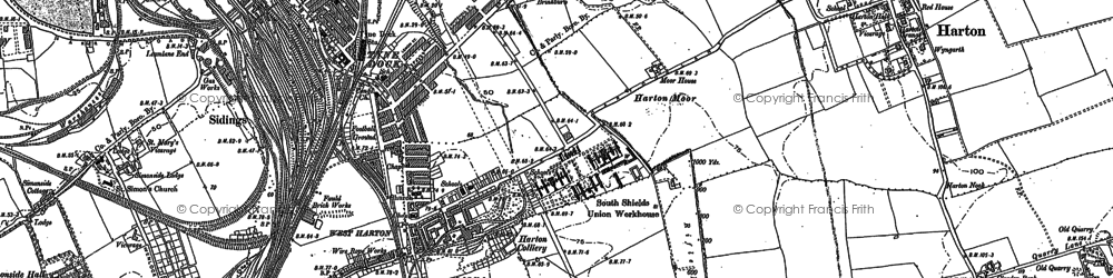 Old map of Whiteleas in 1920
