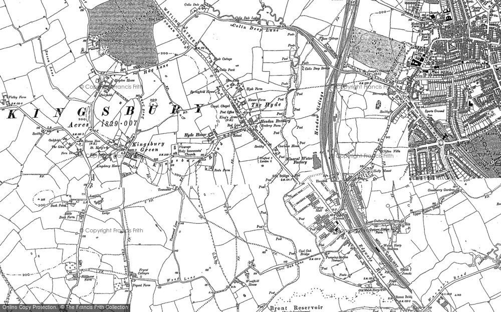 Old Map of West Hendon, 1894 - 1896 in 1894