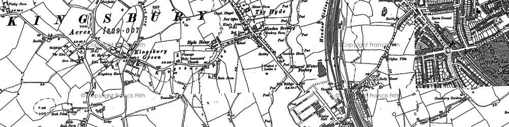 Old map of West Hendon in 1894