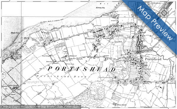Old Map of West Hill, 1883 - 1902 in 1883