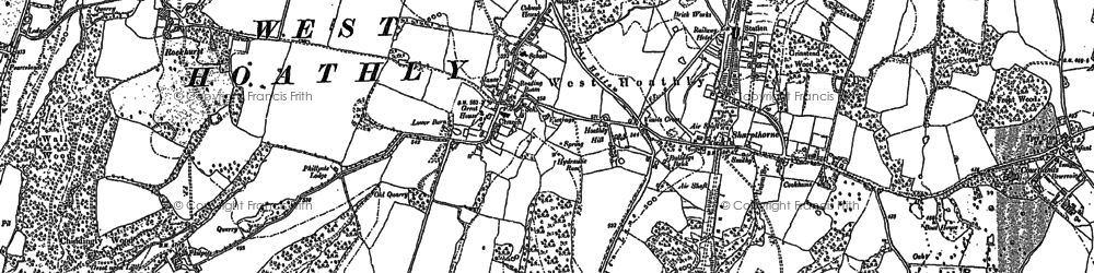 Old map of West Hoathly in 1896