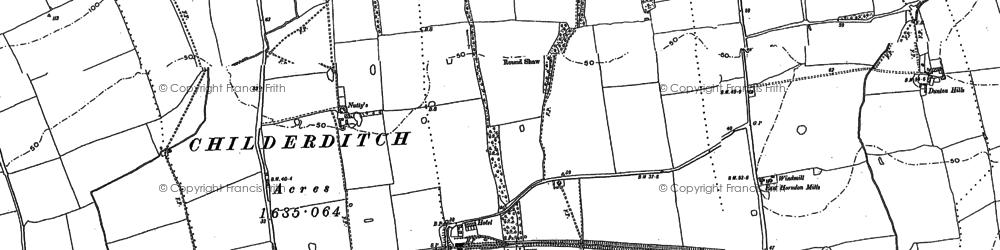 Old map of Tillingham Hall in 1895