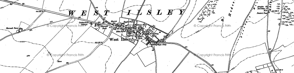 Old map of West Ilsley in 1898