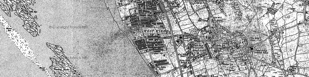 Old map of Lime Wharf in 1908