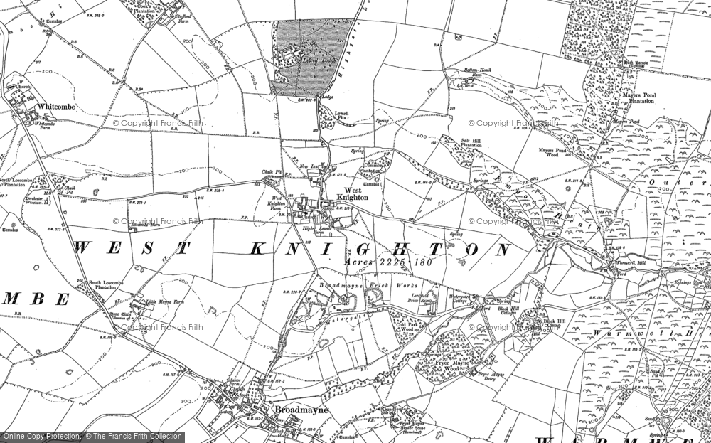 Old Map of Historic Map covering Lewell Lodge in 1886