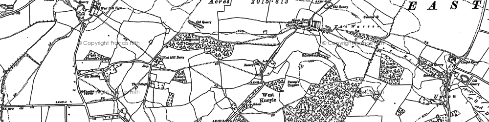Old map of Willoughby Hedge in 1923
