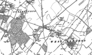 Old Map of West Langdon, 1896 - 1897
