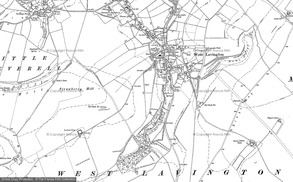 Old Map of Historic Map covering White Hill in 1899