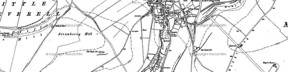Old map of West Lavington in 1899