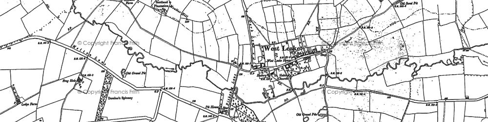 Old map of Ash Spinney in 1883