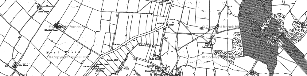 Old map of Lilling Wood in 1891
