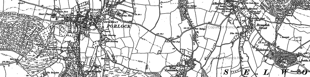 Old map of West Luccombe in 1902