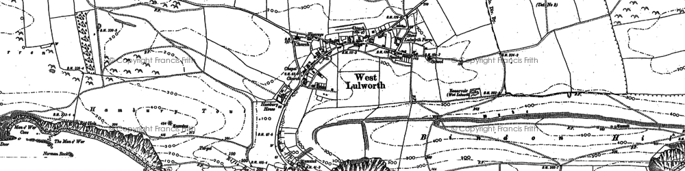 Old map of West Lulworth in 1900