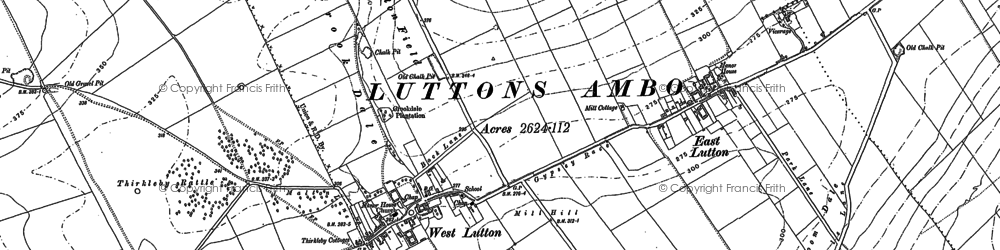 Old map of Whin Moor in 1888