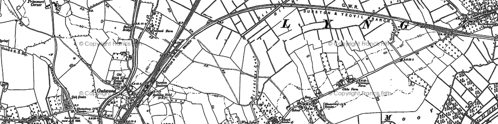 Old map of Bankland in 1886