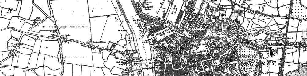 Old map of King's Lynn in 1884