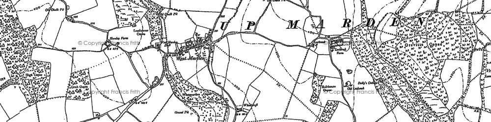Old map of Watergate Hanger in 1910