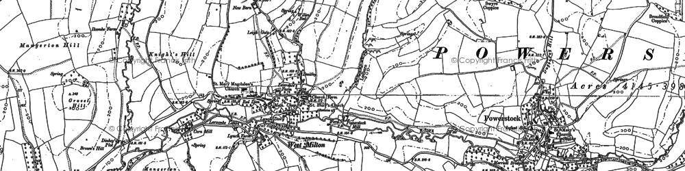 Old map of Leigh Gate in 1886